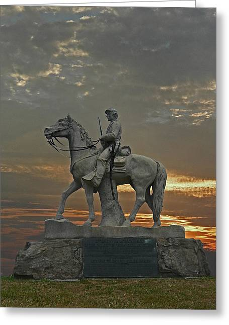 Penna Greeting Cards - Eighth Pennsyvania Cav Greeting Card by Skip Willits