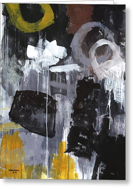 Abstract Expressionist Greeting Cards - Eighty-Foot Drop Greeting Card by Douglas Simonson