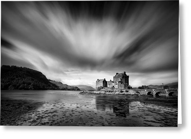 Famous Buildings Greeting Cards - Eilean Donan Castle 1 Greeting Card by Dave Bowman