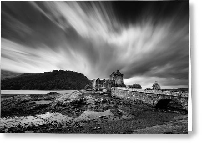 Footbridge Greeting Cards - Eilean Donan Castle 2 Greeting Card by Dave Bowman