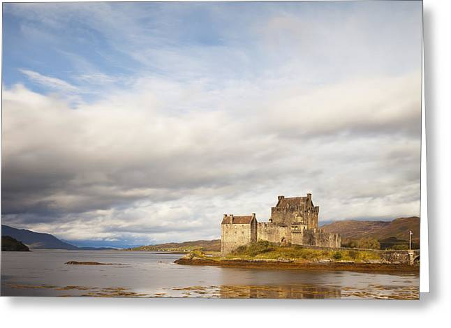 Reconstruction Greeting Cards - Eilean Donan Castle Highland Scotland Greeting Card by Colin and Linda McKie