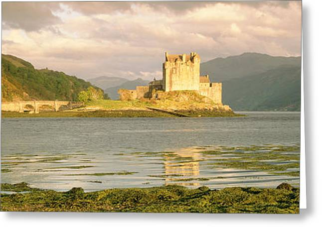 Reconstruction Greeting Cards - Eilean Donan Castle Highlands Scotland Greeting Card by Panoramic Images