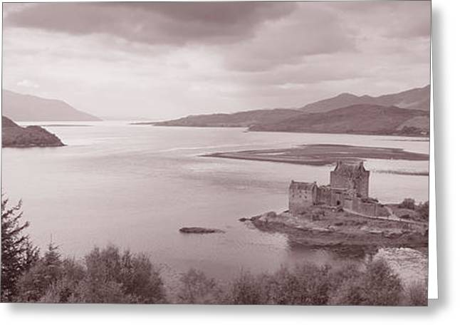 Chateau Greeting Cards - Eilean Donan Castle On Loch Alsh & Greeting Card by Panoramic Images