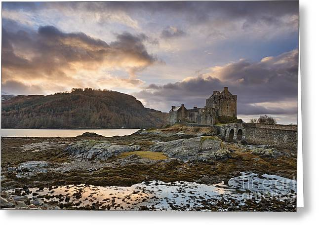 Scotland Landscapes Greeting Cards - Eilean Donan Castle Greeting Card by Rod McLean
