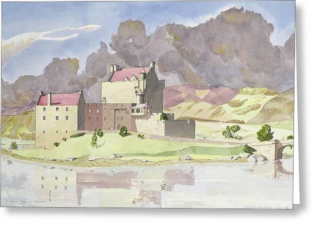 Scottish Paintings Greeting Cards - Eilean Donan Greeting Card by David Herbert