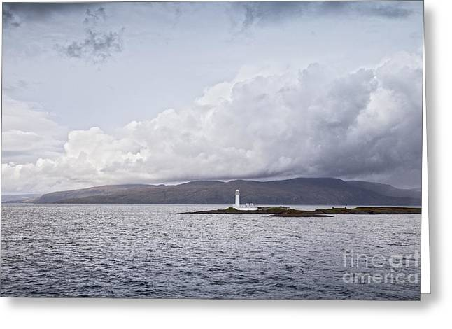 Bute Greeting Cards - Eilean Musdile Lighthouse Scotland Greeting Card by Colin and Linda McKie