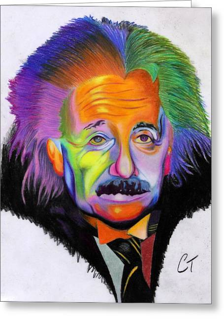 Prisma Colored Pencil Greeting Cards - Einstein  Greeting Card by Colton Tant