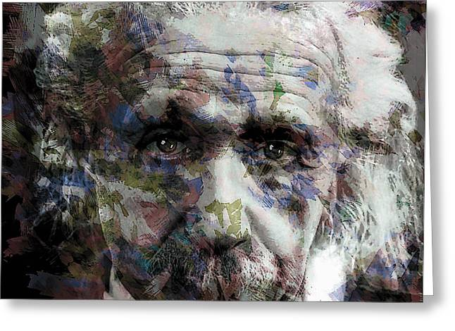 Light-years Greeting Cards - Einstein Genius Greeting Card by Daniel Hagerman