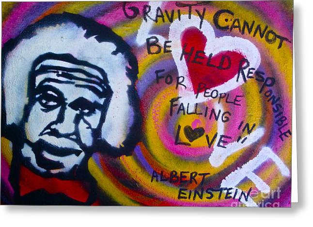 Occupy Greeting Cards - Einstein Gravity Greeting Card by Tony B Conscious