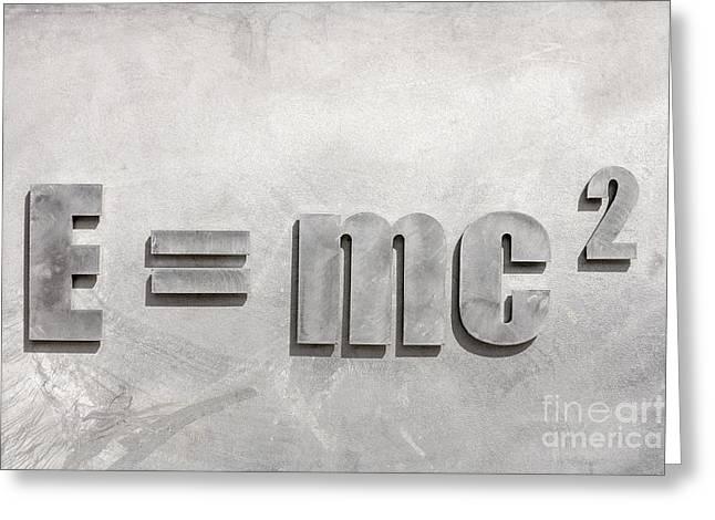 Einstein Sculpture Emc2 Canberra Australia Greeting Card by Colin and Linda McKie