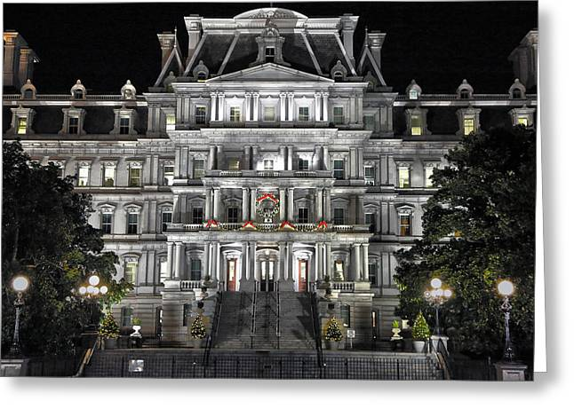 Eisenhower Executive Office Building  Greeting Card by Mitch Cat
