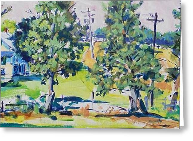 Loose Greeting Cards - Eisenhowers Herdsmans House Greeting Card by Larry Lerew