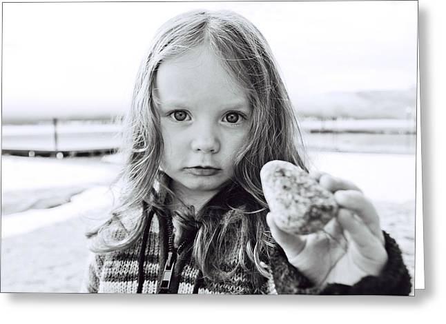 Ejd On The Beach Greeting Card by Jim Davidson