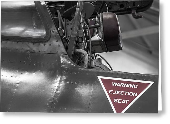 Ejection Greeting Cards - Ejection Seat Warning Greeting Card by Steven Milner