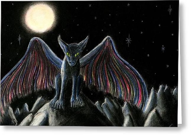 Fantasy Creatures Pastels Greeting Cards - El Alicuecaro Greeting Card by Nieve Andrea