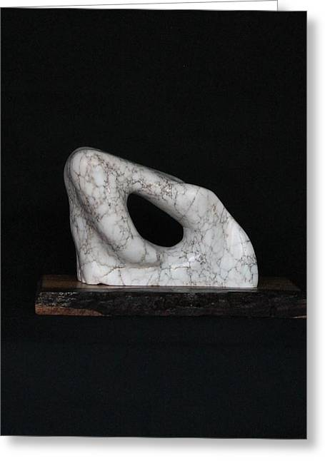Alabaster Sculptures Greeting Cards - El Amparo Greeting Card by Tina De La Luz