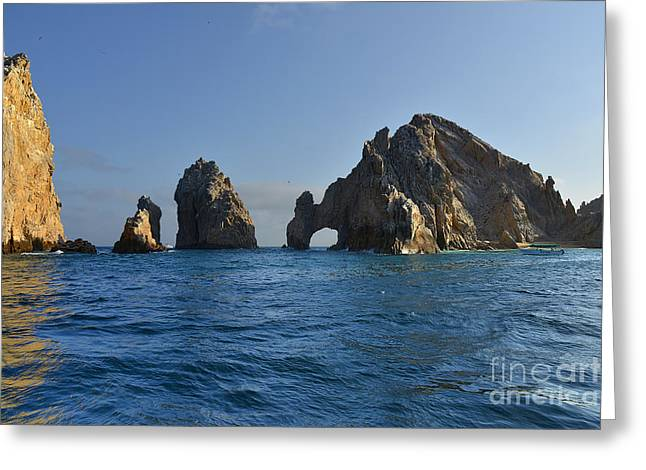 Mexican Greeting Cards - El Arco - The Arch - Cabo San Lucas Greeting Card by Christine Till