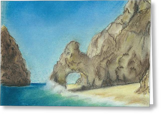 Arch Pastels Greeting Cards - El Arco Greeting Card by Valerie Copper