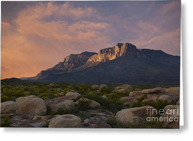 Thunderstorm Greeting Cards - El Capitan Sunset Greeting Card by Keith Kapple