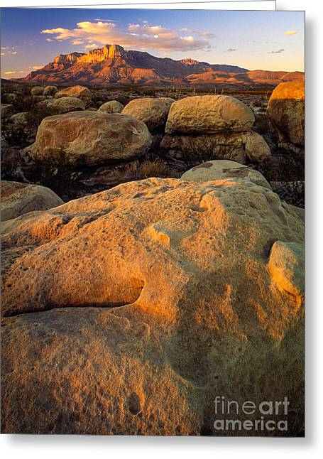 Guadalupe Greeting Cards - El Capitan Texas Greeting Card by Inge Johnsson
