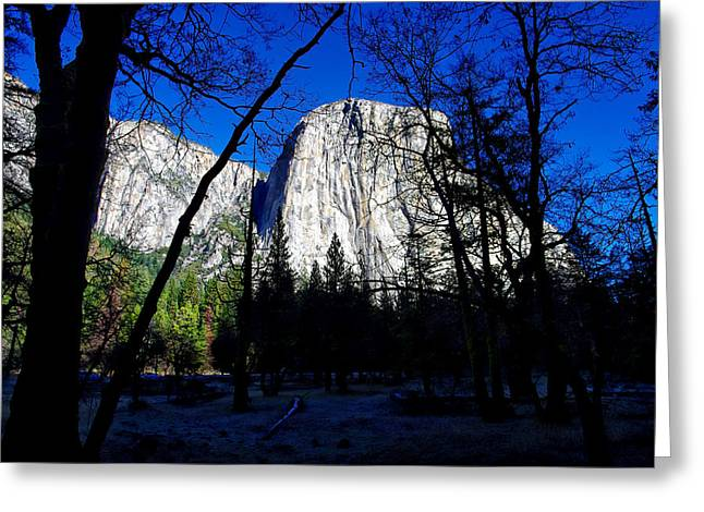 Mariposa County Greeting Cards - El Capitan Winter Morning Greeting Card by Scott McGuire