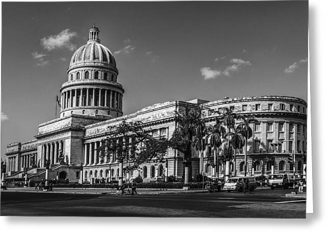 Habana Greeting Cards - El Capitolio Greeting Card by Erik Brede