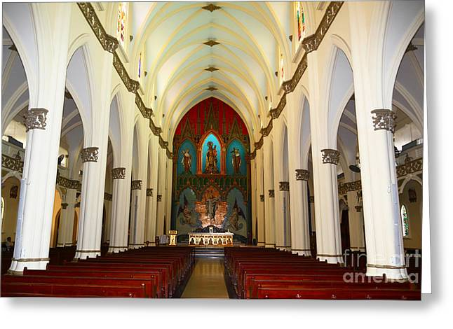 Panama City Greeting Cards - El Carmen Church Interior Panama City Greeting Card by James Brunker