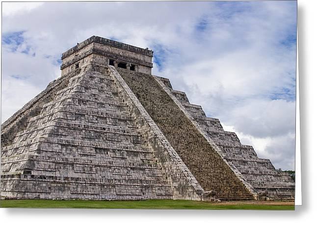 El Castillo Greeting Card by Adam Romanowicz