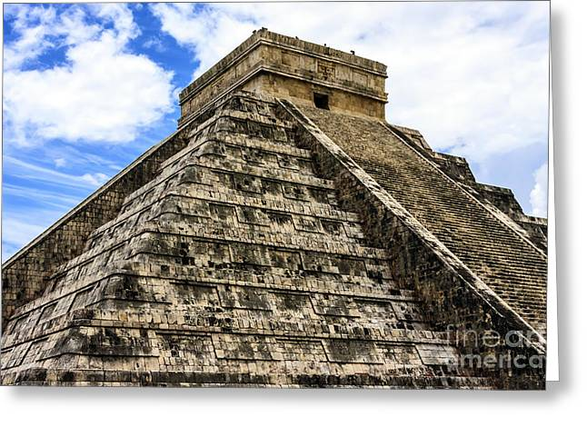 Pyramids Greeting Cards - El Castillo Chichen Itza Greeting Card by Scotts Scapes