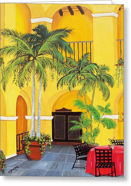Puerto Rico Greeting Cards - El Convento in Old San Juan Greeting Card by Gloria E Barreto-Rodriguez