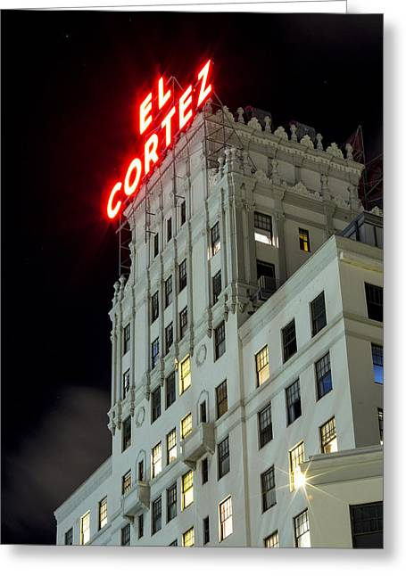 Reception Room Greeting Cards - El Cortez Greeting Card by Stephen Stookey