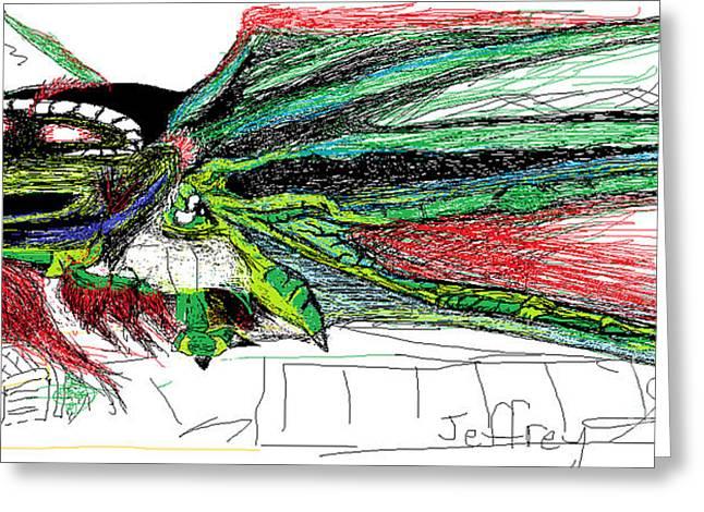 Birdseye Greeting Cards - El Dragoon Greeting Card by Jeffrey Towers