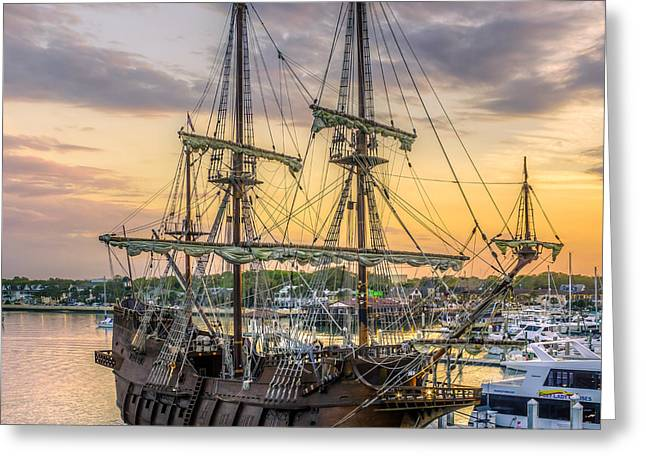 Historic Schooner Digital Greeting Cards - El Galeon Greeting Card by Rob Sellers