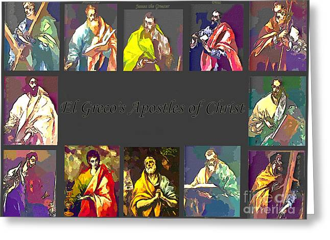 El Greco's Apostles Of Christ Greeting Card by Barbara Griffin