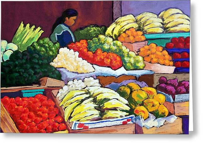 Apple Pastels Greeting Cards - El Mercado Greeting Card by Candy Mayer