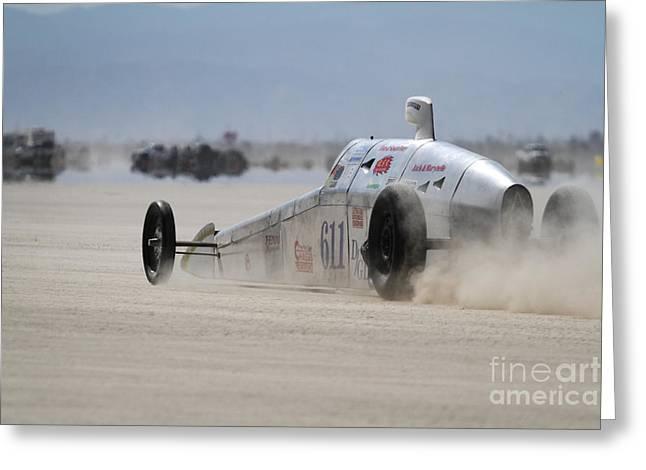 Salt Flats Racer Greeting Cards - El Mirage 6 Greeting Card by Dennis Hedberg