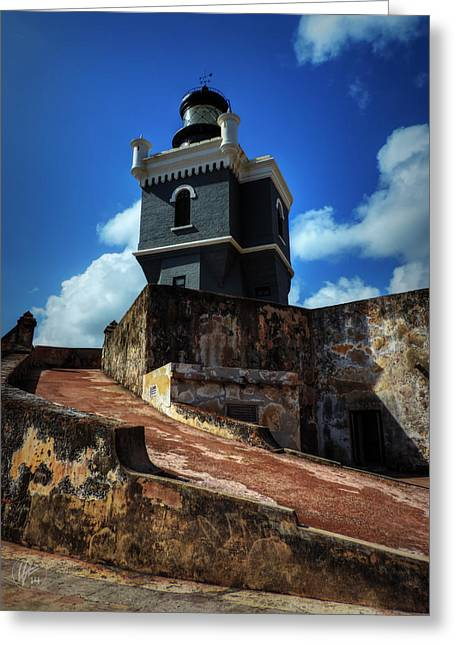 Castillo San Felipe Greeting Cards - El Morro 001 Color Greeting Card by Lance Vaughn