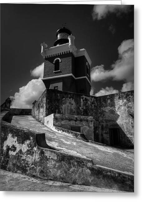 Castillo San Felipe Greeting Cards - El Morro 001 Greeting Card by Lance Vaughn