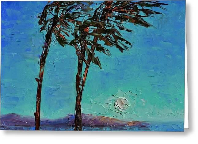 Kiteboarding Paintings Greeting Cards - El Norte Greeting Card by Lynee Sapere