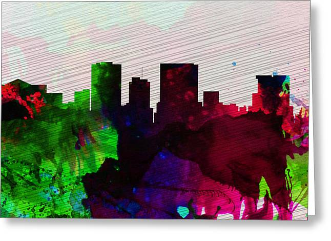 El Greeting Cards - El Paseo City Skyline Greeting Card by Naxart Studio