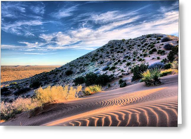 West Tx Greeting Cards - El Paso Blue Greeting Card by JC Findley