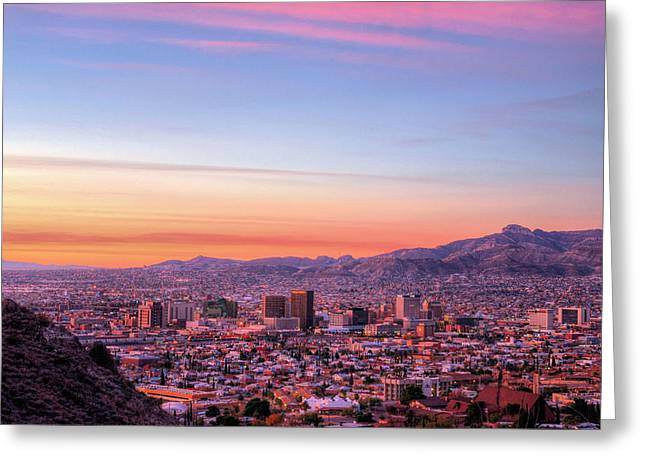 West Tx Greeting Cards - El Paso Greeting Card by JC Findley