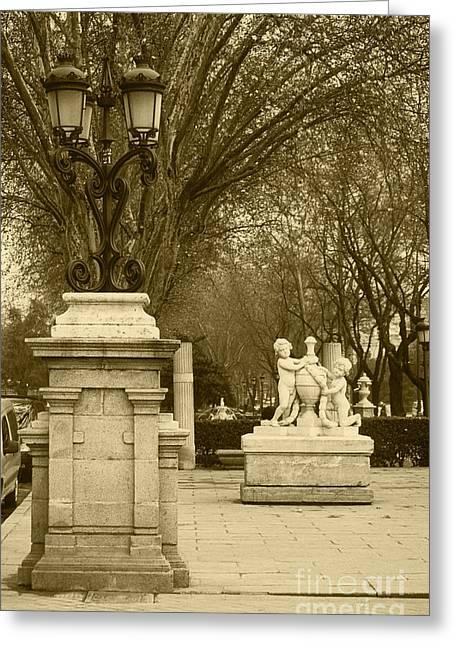 El Prado Madrid Greeting Card by James Brunker