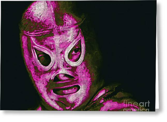 Wwf Greeting Cards - El Santo The Masked Wrestler 20130218m68 Greeting Card by Wingsdomain Art and Photography