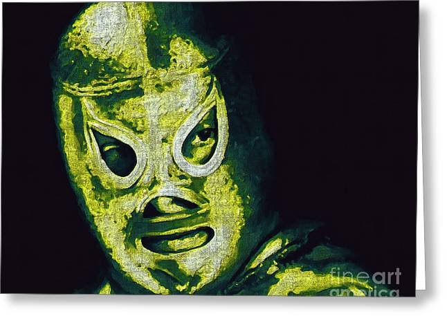 Wwf Greeting Cards - El Santo The Masked Wrestler 20130218p39 Greeting Card by Wingsdomain Art and Photography