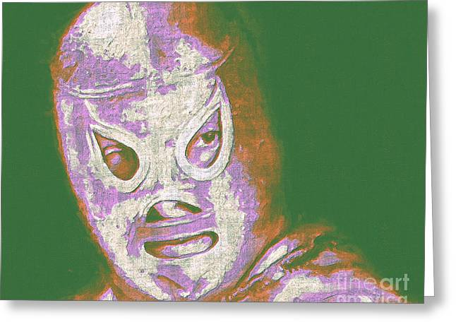 Wwf Greeting Cards - El Santo The Masked Wrestler 20130218v2m128 Greeting Card by Wingsdomain Art and Photography