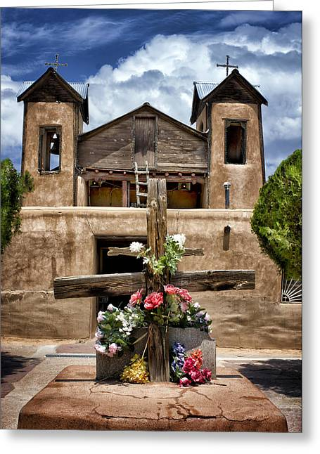 The Wooden Cross Greeting Cards - El Santuario de Chimayo #1 Greeting Card by Nikolyn McDonald