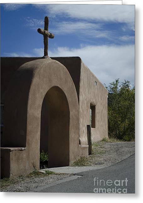 Altar Picture Greeting Cards - El Santuario de Chimayo Arch Greeting Card by David Gordon