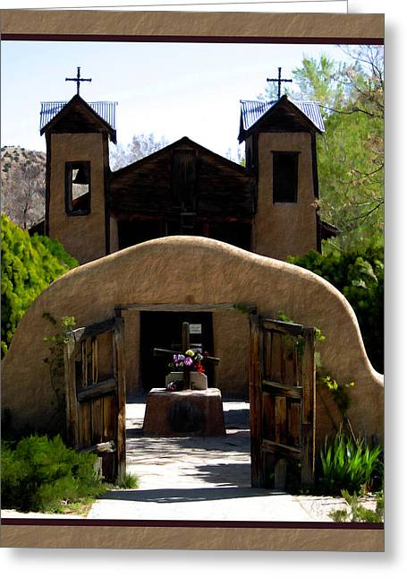 Best Sellers Greeting Cards - El Santuario de Chimayo Greeting Card by Kurt Van Wagner