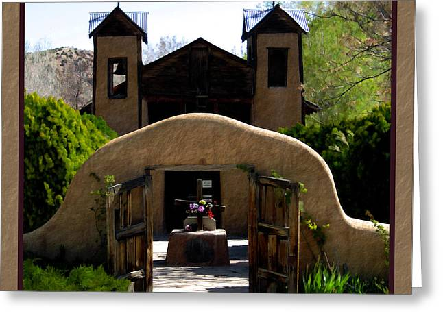El Santuario de Chimayo Greeting Card by Kurt Van Wagner